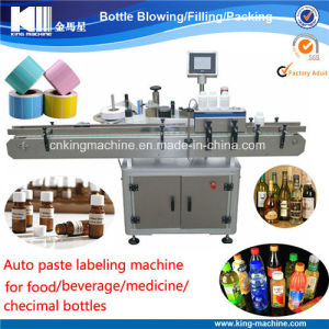 Liquid Bottle Glue Labeling Machinery pictures & photos