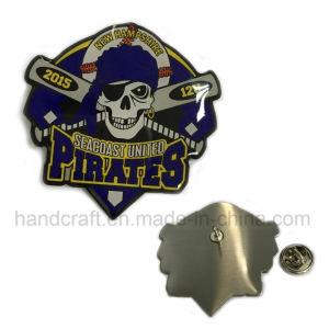 Baseball Lapel Pin with Skull Design