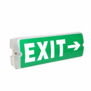 Qihui 5W LED Rechargeable Bulkhead Emergency Exit Sign Light