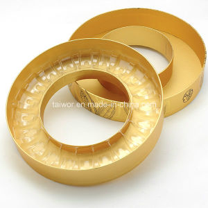 Gold Paper 20piece Macaron Paper Round Box with The Plastic Food Gray