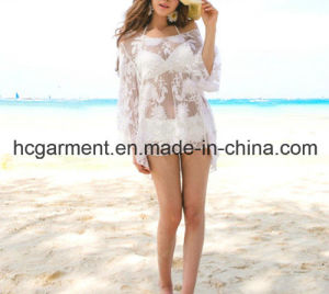 White Swimming Clothes Cover up Swimsuit for Women/Lady pictures & photos