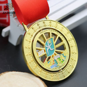 Die Casting Gold Cut out Spin Zinc Alloy Metal Custom Enamel Medal (JIABO-JP1670) pictures & photos