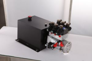 Lift Table AC 380V Single Acting Hydraulic Power Unit with Square Steel Tank pictures & photos