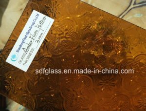 Tinted Amber Flora Patterned Glass pictures & photos
