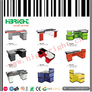 Supermarket Cashier Checkout Counter with Conveyor Belt pictures & photos