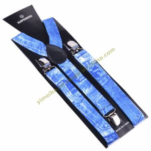2014 New Jeans Print Unisex Elastic Suspender 2.5*100cm (BD1009-54) pictures & photos