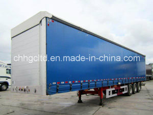 Curtain Van Type Semitrailer For Cargo Trailers/Van Box Semi Trailer On Sale