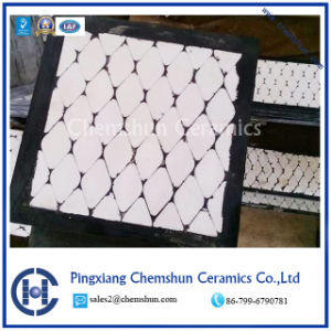 Chemshun High Abrasion Resistant Rubber Ceramic Block Composited Liner pictures & photos