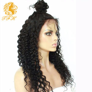 Full Lace Human Hair Wigs 150% Density Preplucked Lace Front Wig 7A Loose Deep Curly Lace Front Human Hair Wigs for Black Woman pictures & photos