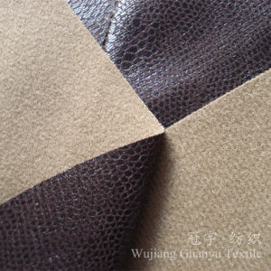 Gilding Suedette Microfiber Leather Fabric for Sofa pictures & photos
