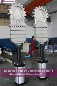 Bonnect Bolted Knife Gate Valve with V Type Delfection Cone pictures & photos