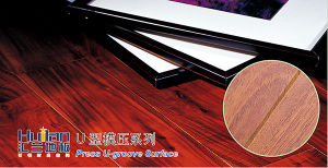 AC4 E1 U Groove HDF Laminated Flooring pictures & photos
