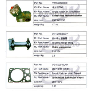 Sinotruck HOWO Shacman Truck Spare Parts Coupling Flange Fitting pictures & photos