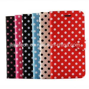 Polka DOT PU Leather Case for iPhone 6 Plus 5.5inch pictures & photos