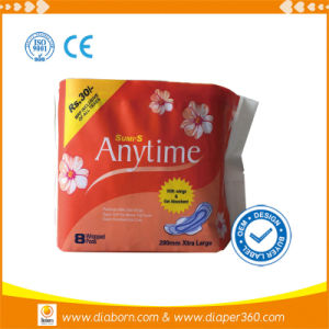Anytime Day Use Sanitary Napkins with Blue Chip pictures & photos
