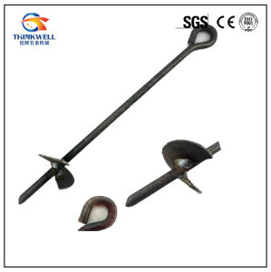Forged Steel Crane Screw Ground Earth Anchor pictures & photos