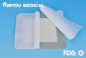 Silicone Border Foam Wound Dressing for Sacral Wound pictures & photos