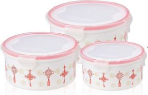 Round Transparent Baby Food Container pictures & photos