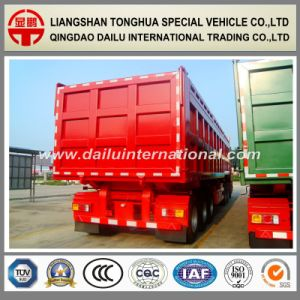 3-Axles Heavy Cargo Transport Rear Self-Dumping/Tipper Semi Trailer pictures & photos