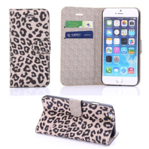 Top Sale Leather Case Cover for iPhone 6 with Leopard Pattern pictures & photos