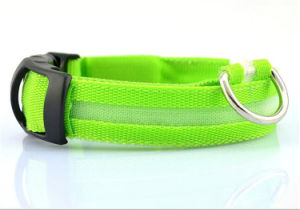 Factory Wholesales Waterproof LED Dog Collar with Elastic Dog Collars pictures & photos