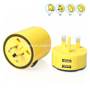 Universal World 5V 2.4A USB Travel Adapter Travel Plug Adapter pictures & photos