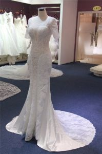 Short Sleeve Lace Wedding Dress pictures & photos