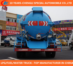 Sinotruk HOWO 4X2 Vacuum Fecal Suction Truck 8000L Sewage Suction Truck pictures & photos