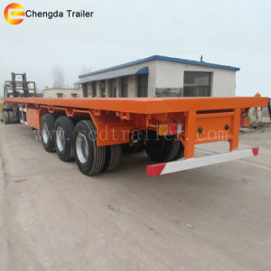 Chengda Flat Bed 40t 40FT 3 Axles Container Trailer pictures & photos