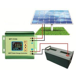 MPPT 10AMP 24V/36V/48V/60V/72V Li-Battery Solar Controller Mpt-7210A pictures & photos