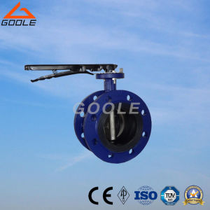 Manual Flanged End Soft Seal Butterfly Valve (GAD41X) pictures & photos