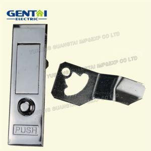 Push-Button Cylinder Panel Flat Door Lock pictures & photos