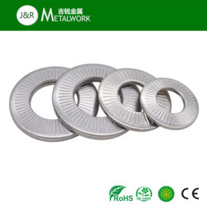 SS304 SS316 Stainless Steel Knurled Serrated Conical Washer pictures & photos