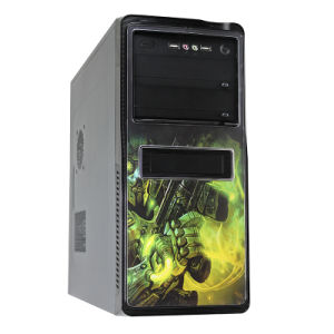 Computer Case with Colorful Exchange Face Panel pictures & photos