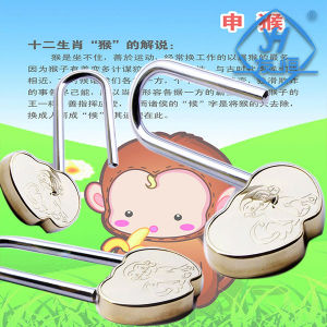 Customized Double Love Heart Shaped Hook Padlock pictures & photos