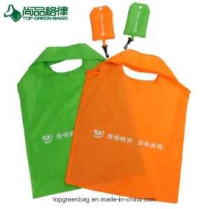 Round Handles Printed Foldable Tote Polyester Bag pictures & photos