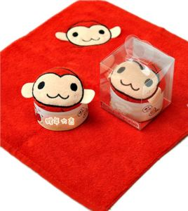 Red Monkey Design Cotton Hand Towel pictures & photos