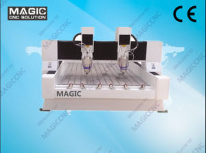 Double Heads Stone Engraving Machine