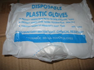 Competitive China Factory Stock Sale Dispaoble PE Gloves /Plastic Hand Gloves pictures & photos