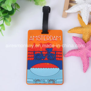 Custom Soft PVC Travel Luggage Tag Wholesale Personalized Airplane Luggage Tag pictures & photos