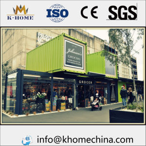 Windproof Steel Fram Prefab Container House for Store pictures & photos