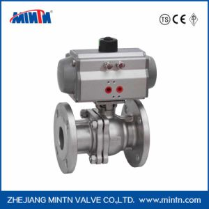 Pneumatic Stainless Steel 3-PCS Ball Valve with Flange Type pictures & photos