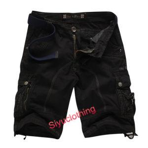 Men Fashion Comfortable Loose Cargo Pockets Cotton Shorts (S-1518) pictures & photos