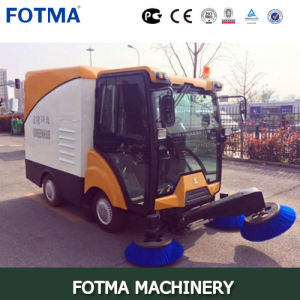 Four Wheel Lead-Acid Electric Garbage Bin 240L Road Sweeping Vehicle pictures & photos