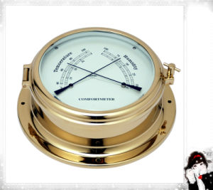 Brass Case Thermometer and Hygrometer Open Type Dial 124mm pictures & photos
