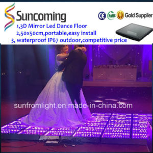 Wedding Decoration 3D Illusion Mirror Infinity LED Dance Floor pictures & photos