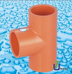 Plastic CPVC Tee ASTM F437 F438 F439 (PVC UPVC PP PE plain tee ANSI) pictures & photos