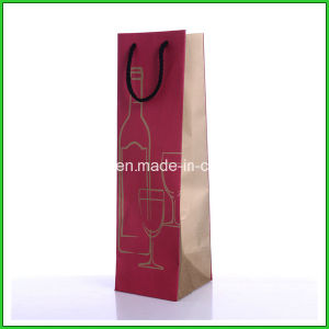 Promotion One Bottle Paper Wine Bag pictures & photos