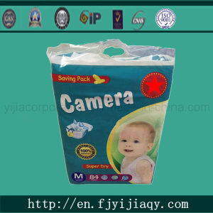 Cotton Camera Brand Baby Diaper with Magic Tape pictures & photos