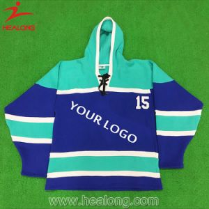Deep Blue Free Style Fashion Ice Hockey Warm Hoody pictures & photos